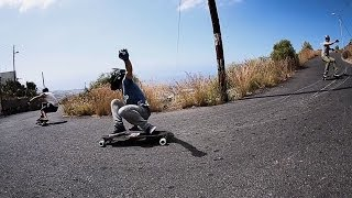 High-Speed Downhill Skateboarding Down Volcano | Greener Pastures Offshore, Ep. 1(http://www.epictv.com From a secret 'Spanish Island' the Greener Pastures crew head up a volcano to race back down on their longboards, passing roadbikers ..., 2013-11-28T12:21:30.000Z)