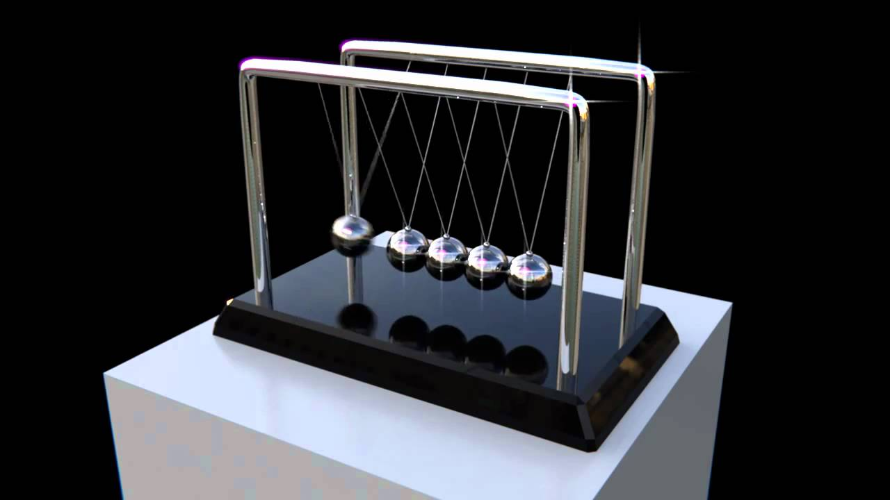 3d newtons cradle animation youtube
