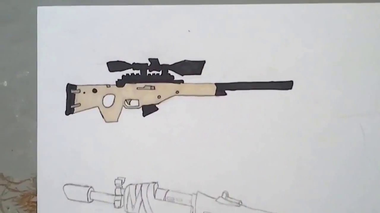 Dessin Sniper Et Ak Fortnite 2 Youtube