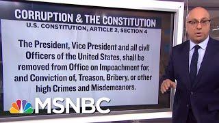 Quid Pro Quo, Bribery, And The Constitution   Velshi & Ruhle   MSNBC