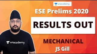 ESE Prelims 2020 Results Out | JS Gill