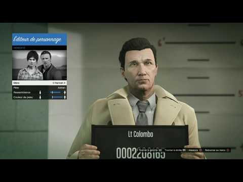Lt. Colombo (Peter Falk) character creation in GTA 5 Online!!