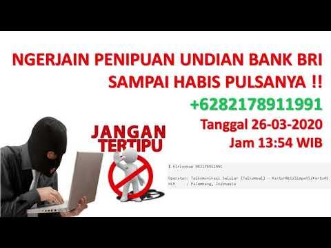 Penipuan Undian Bank Bri Melalui Telpon Youtube