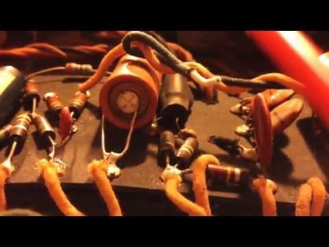 Blue flash popping sound 6l6 tube amp Fender Super Reverb