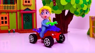 SUPERHERO BABIES Play Doh Stop Motion and Cartoons For Kids