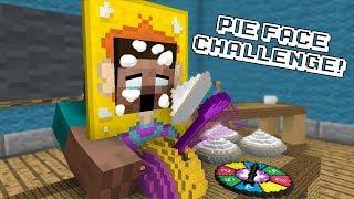 Monster School: PIE FACE CHALLENGE! - Minecraft Animation
