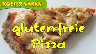 vegane glutenfreie Pizza mit Nusskäse - vegane Rezepte von Koch's vegan