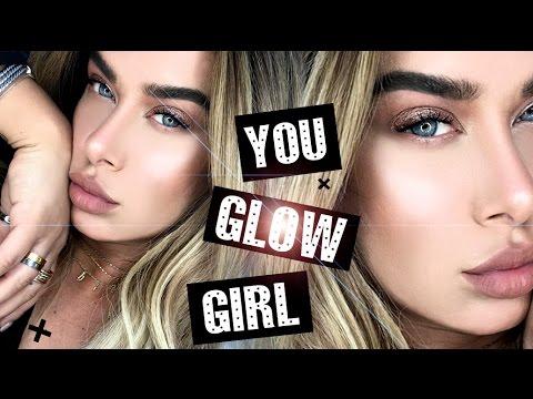 Holiday glow makeup  -  How to use liquid illuminators!