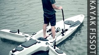 Fissot Fishing kayak with 40 bls motor by Fissot kayak