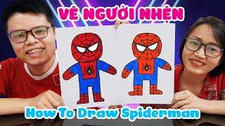 Dạy vẽ Người Nhện đơn giản ♥ How To Draw Spiderman ♥
