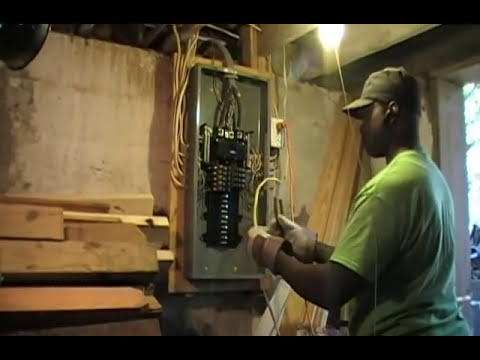 how to install a outlet in a unfinished basement youtube rh youtube com Wiring Unfinished Basement Walls Concrete Wiring Outlets in Your Basement
