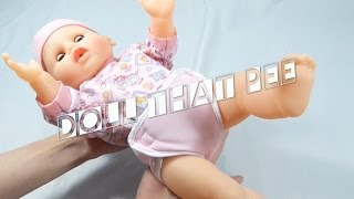 Doll that pees Take the bottle making moves cries and laughs Baby TOY FOR GIRLS