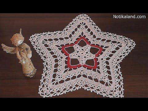 Crochet Doily Star Part 3 7 8 Round Youtube