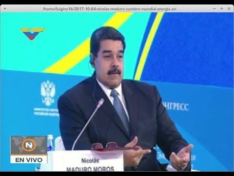 Presidente Nicolás Maduro en la 6ta Cumbre Mundial de Energía en Rusia