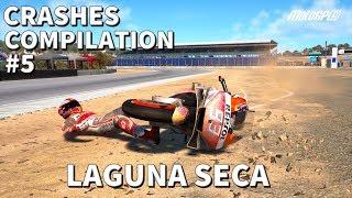 MotoGP 19 | CRASHES COMPILATION #5 | Laguna Seca CRASHES
