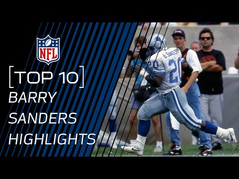 Top 10 Barry Sanders Touchdowns of All Time | NFL Legend Highlights