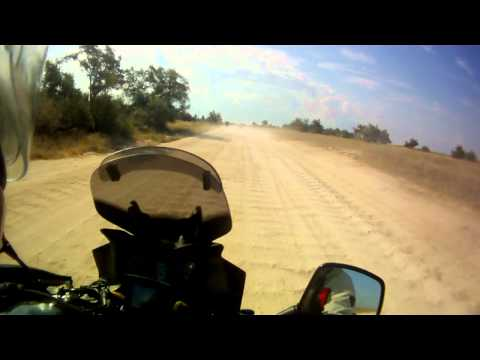 Suzuki DL 650 V-Strom off-road ride on Arabat spit, part 1