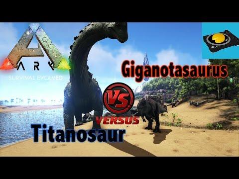 Ark Insight!! Titanosaur V.S Giga!!