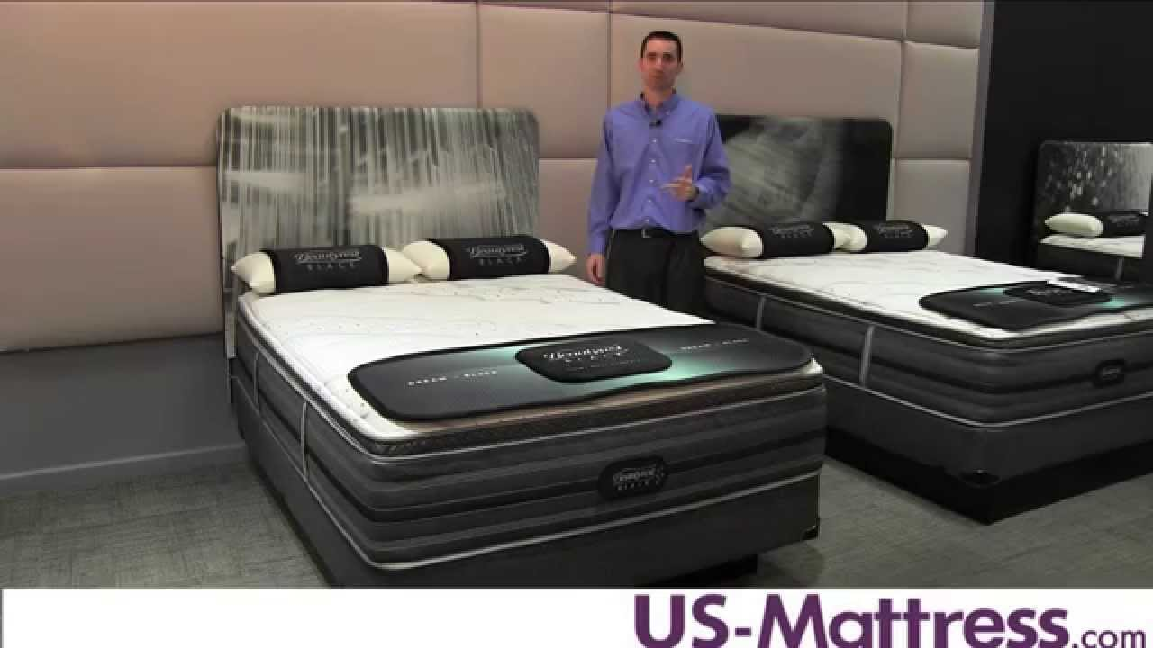 simmons beautyrest black kate luxury firm pillow top mattress youtube