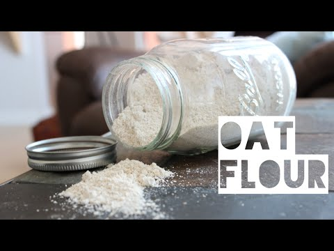 How To Make Oat Flour   You'll NEVER Need To Buy Oat Flour Again