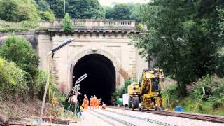 Box Tunnel time-lapse video of track lowering and renewals 18 July - 1 September 2015