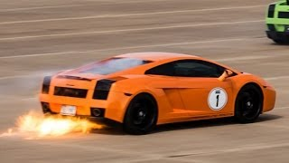Lambo on FIRE at over 200 MPH!!!