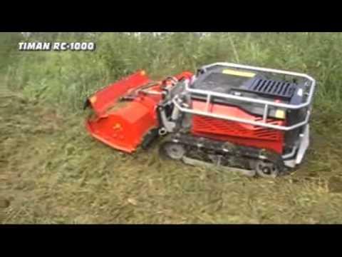 Timan RC-1000 slope mower