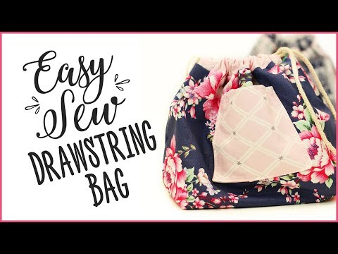 How To Sew A Drawstring Bag - Easy Sewing Tutorial