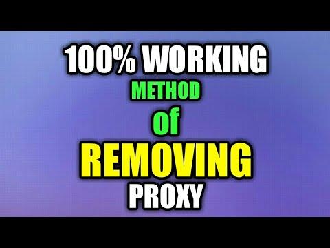100% Working Method Of Removing Proxy Virus    Windows 10