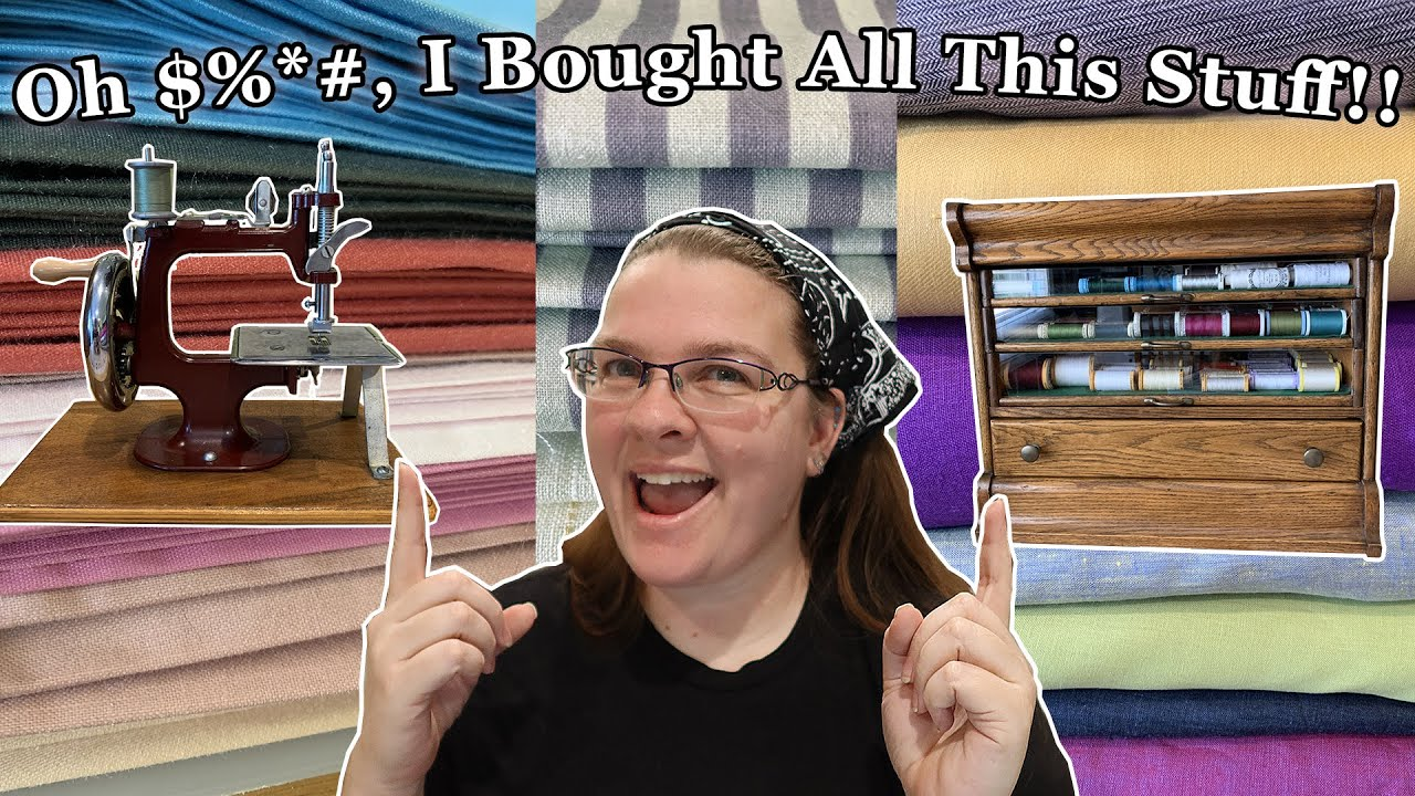 I Bought a *#%& Ton of Stuff that You Guys Will Want to See! || Fabric and Sewing Supplies Haul
