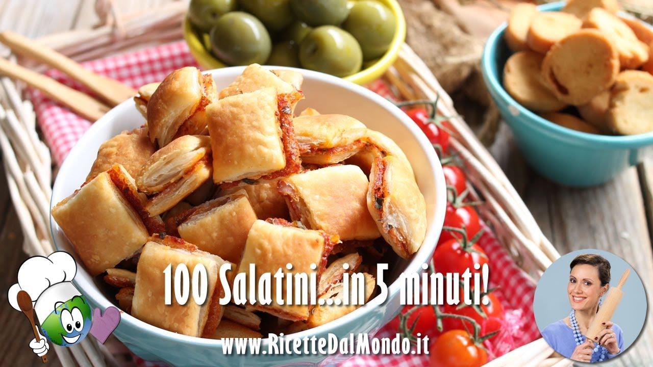 Cosa Cucinare Per Molte Persone 100 salatini in 5 minuti
