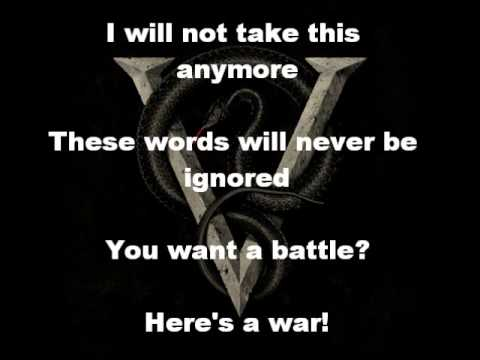 Bullet For My Valentine-You Want a Battle?(Here's a War) - Lyric video