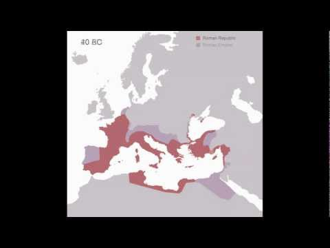 Animated History of the Roman Empire  510 BC - 1453 AD