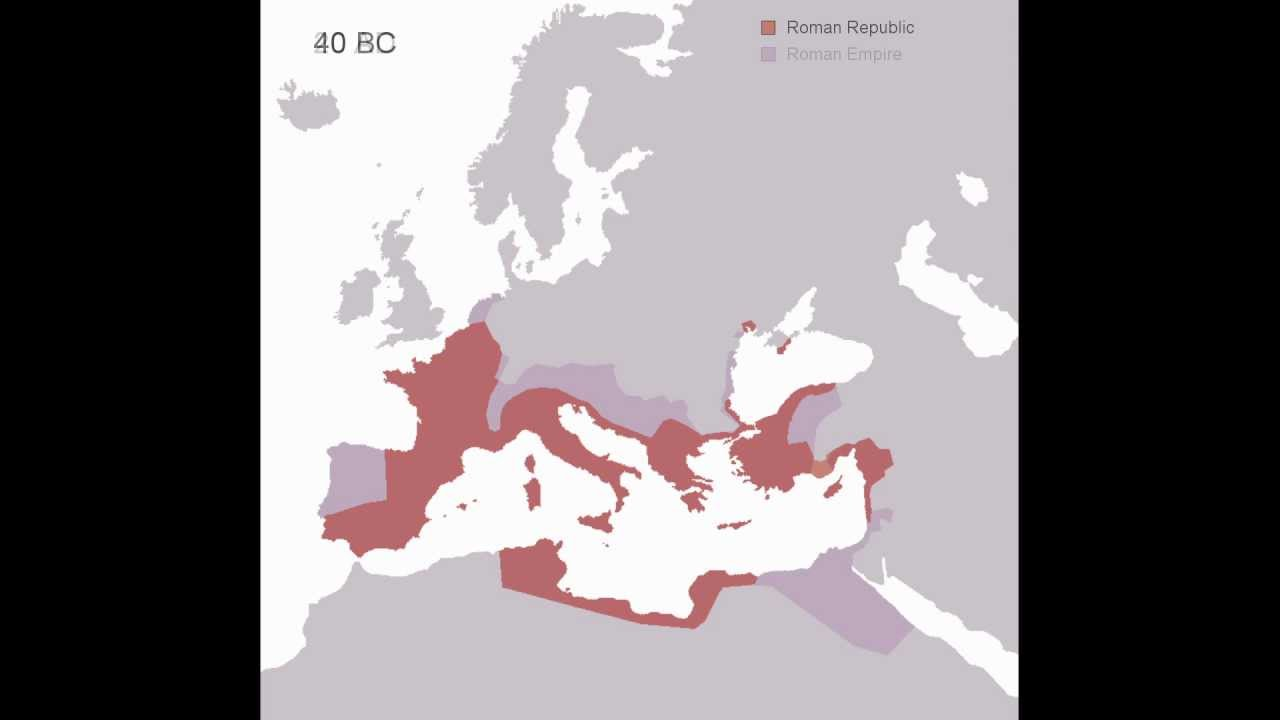 Height Of The Roman Empire Map.Animated History Of The Roman Empire 510 Bc 1453 Ad Youtube