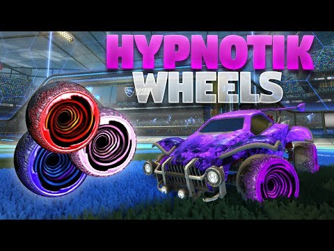 All Painted &#;HYPNOTIK&#; Wheels On Rocket League (Triumph Crate Showcase)