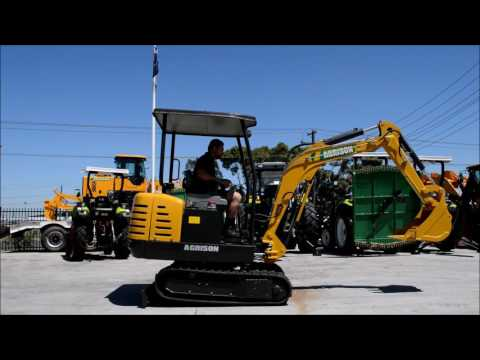 Agrison ME2200 Mini Excavator 2 2Tonne Melbourne Australia Video