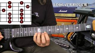 Gitarre lernen - Die Tonleitern - Die Pentatonik - Fingersatz3