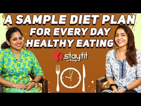 DIET & NUTRITION GUIDE - A Sample Diet Plan For Every Day Healthy Eating | Ramya