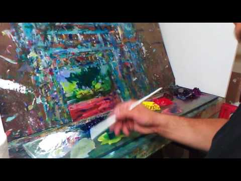 Oil Painting Session With Artist Jose Trujillo – Impressionism – Landscape – Session 005