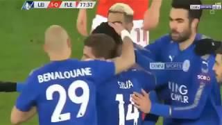 أهداف مباراة ليـــستر سيـتـي 2-0 فلووتوود تاون 16-01-2018