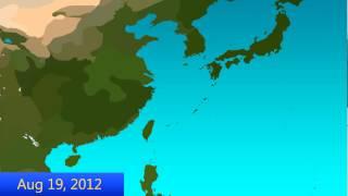 2012 West Pacific Typhoon Season Animation