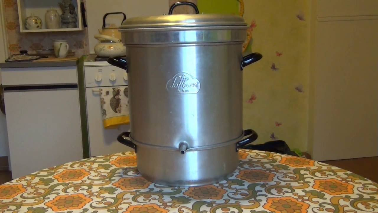 ORIGINAL SAFTBORN ,Alter DampfEntsafter,Steam juicer  ~ Entsafter Dampf