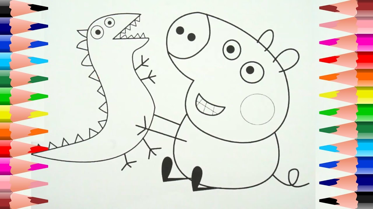 Coloring Pages Peppa Pig Baby Alexander