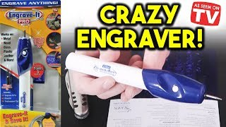 AMAZING Gadget You Should Buy - As Seen on TV Engrave It Pro Review!!