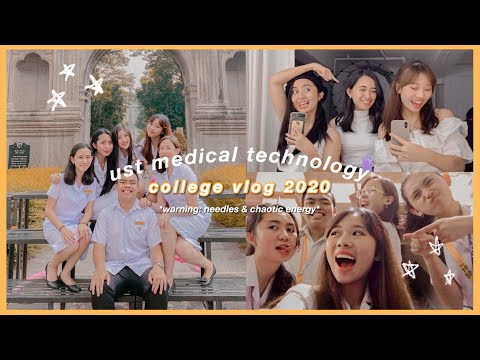 ust medtech college vlog 2020 (philippines) *warning: needles & chaotic energy*