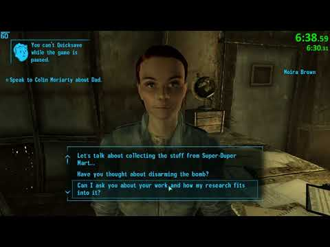 Fallout 3 All Quests Speedrun (commentated run)