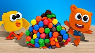 СЮРПРИЗЫ и игрушки   Ми ми мишки. ЛОПАЕМ ШАРИКИ. Собираем коллекцию игрушек Яйца Сюрприз