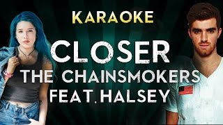The Chainsmokers - Closer ft. Halsey | LOWER Key Karaoke Instrumental Lyrics Cover Sing Along