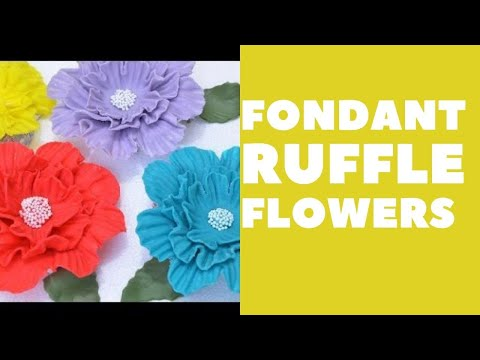 how to make fondant flowers youtube