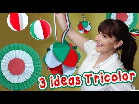 3 Ideas Tricolor Decorativas estilo Mexicano :: Chuladas Creativas :: Esferas de papel